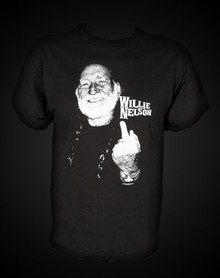 Willie Nelson middle finger t-shirt