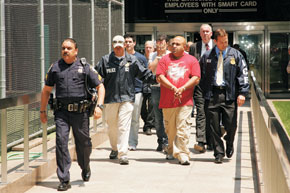 Perp walk in New York
