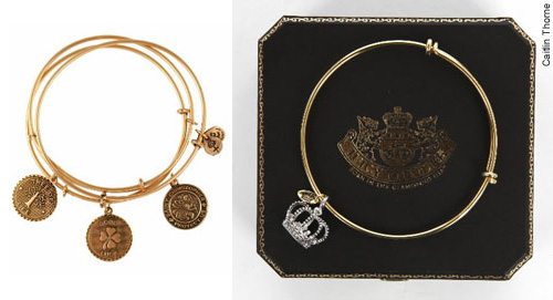 Alex and Ani set (left) and Juicy Couture (right)
