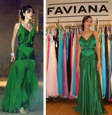 Faviana not only duplicated the dress, but invited Access Hollywood to