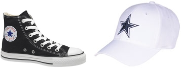 Converse (left) and Cowboys