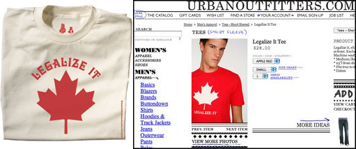 Crownfarmer and Urban Outfitters shirts