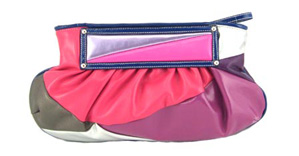 Melie Bianco Multi Color Graphic clutch