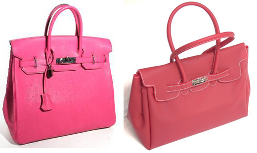 Hermes Birkin with Jelly Kelly knockoff