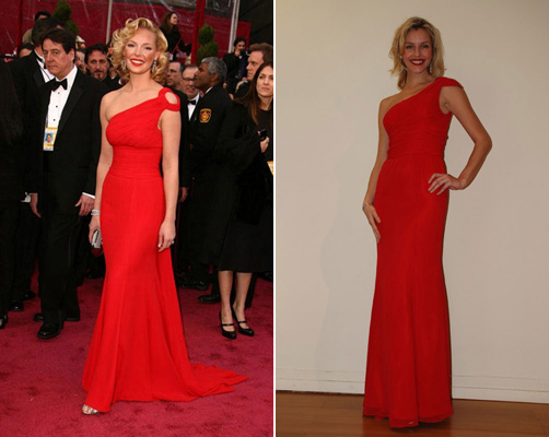 Katherine Heigl in Escada and Faviana knockoff