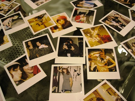 Polaroids of my wife