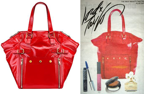 YSL Downtown medium patent ($1395) and Lord & Taylor gift with $85 purchase