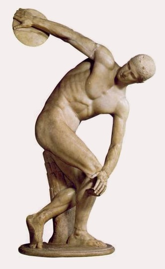 Roman copy of Myron's Discobolus, 5th century BCE